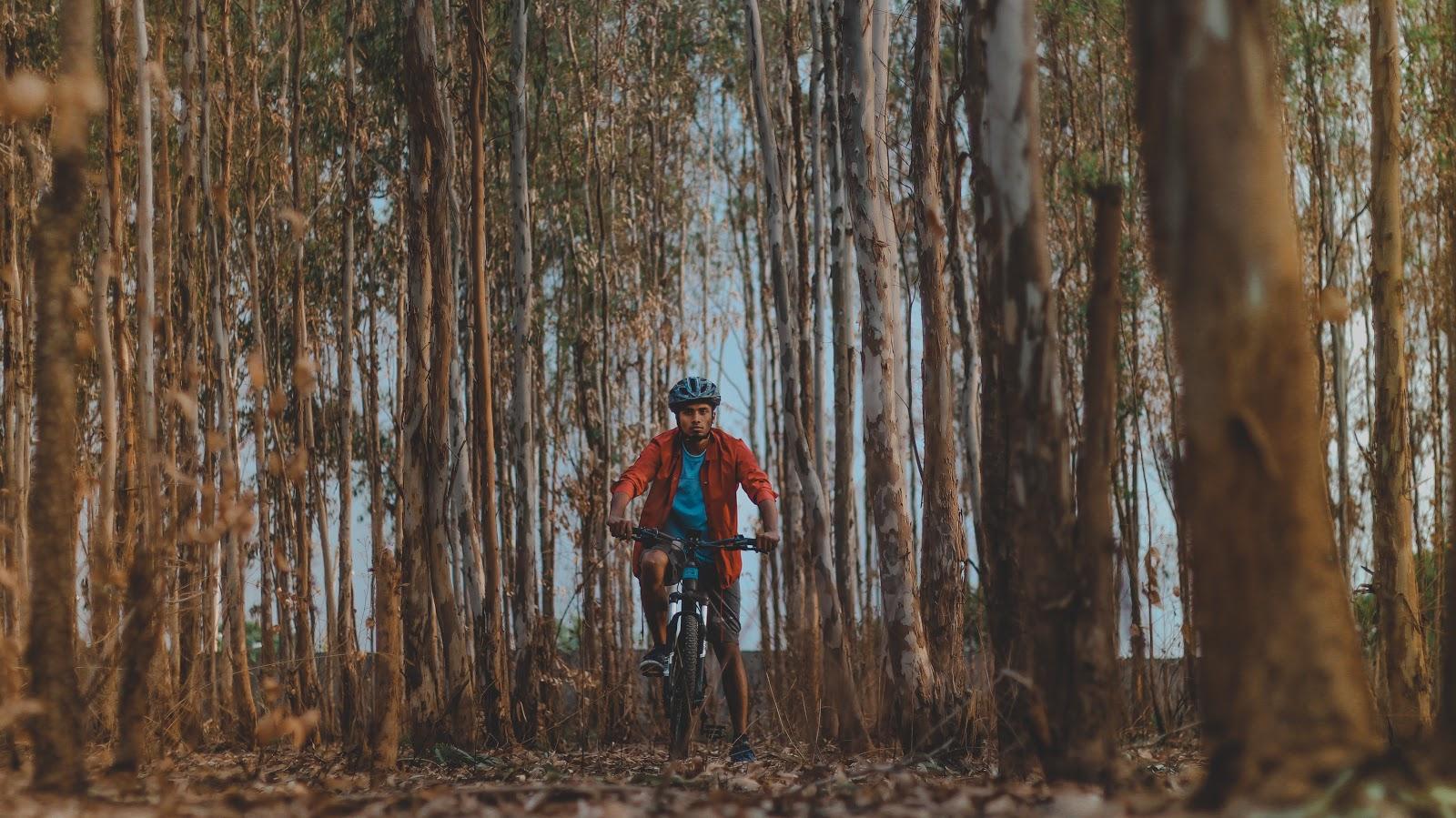 Riding through Turahalli Forest, Bangalore